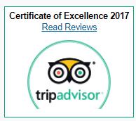 2017 Trip Advisor Certficate of Excellence